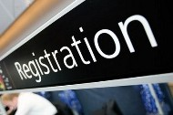 """Registration Desk Sign"" by NHS Confederation"