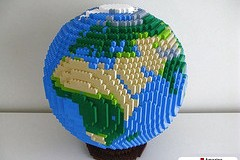 LEGO Globe Europe Africa by AmazingBrickCreations.com